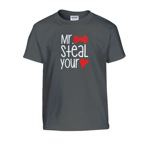 Mr. Steal Your Heart Kids Tee - Charcoal / S - Kids