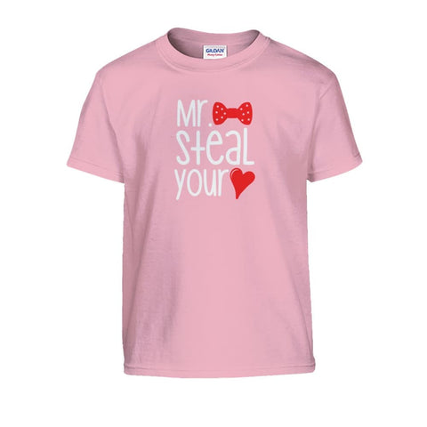 Image of Mr. Steal Your Heart Kids Tee - Light Pink / S - Kids