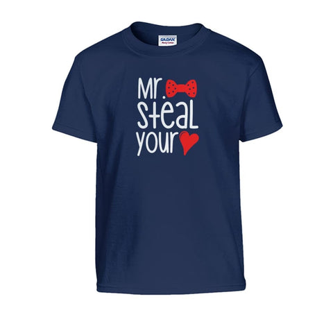 Mr. Steal Your Heart Kids Tee - Navy / S - Kids