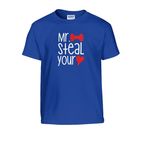 Mr. Steal Your Heart Kids Tee - Royal / S - Kids