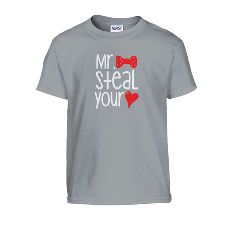 Mr. Steal Your Heart Kids Tee - Sport Grey / S - Kids