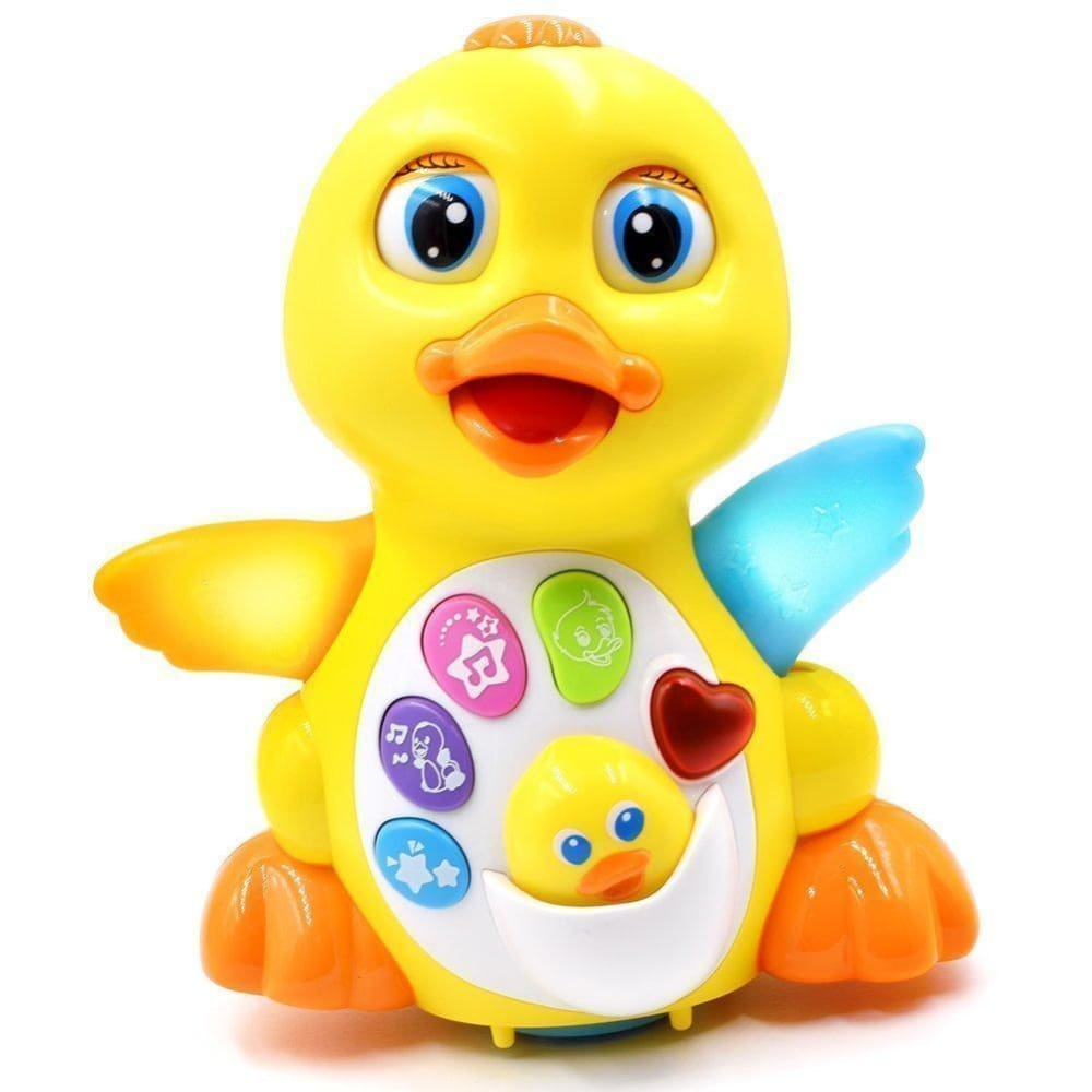 Musical Flapping Duck Educational Toy With Action Light And Music