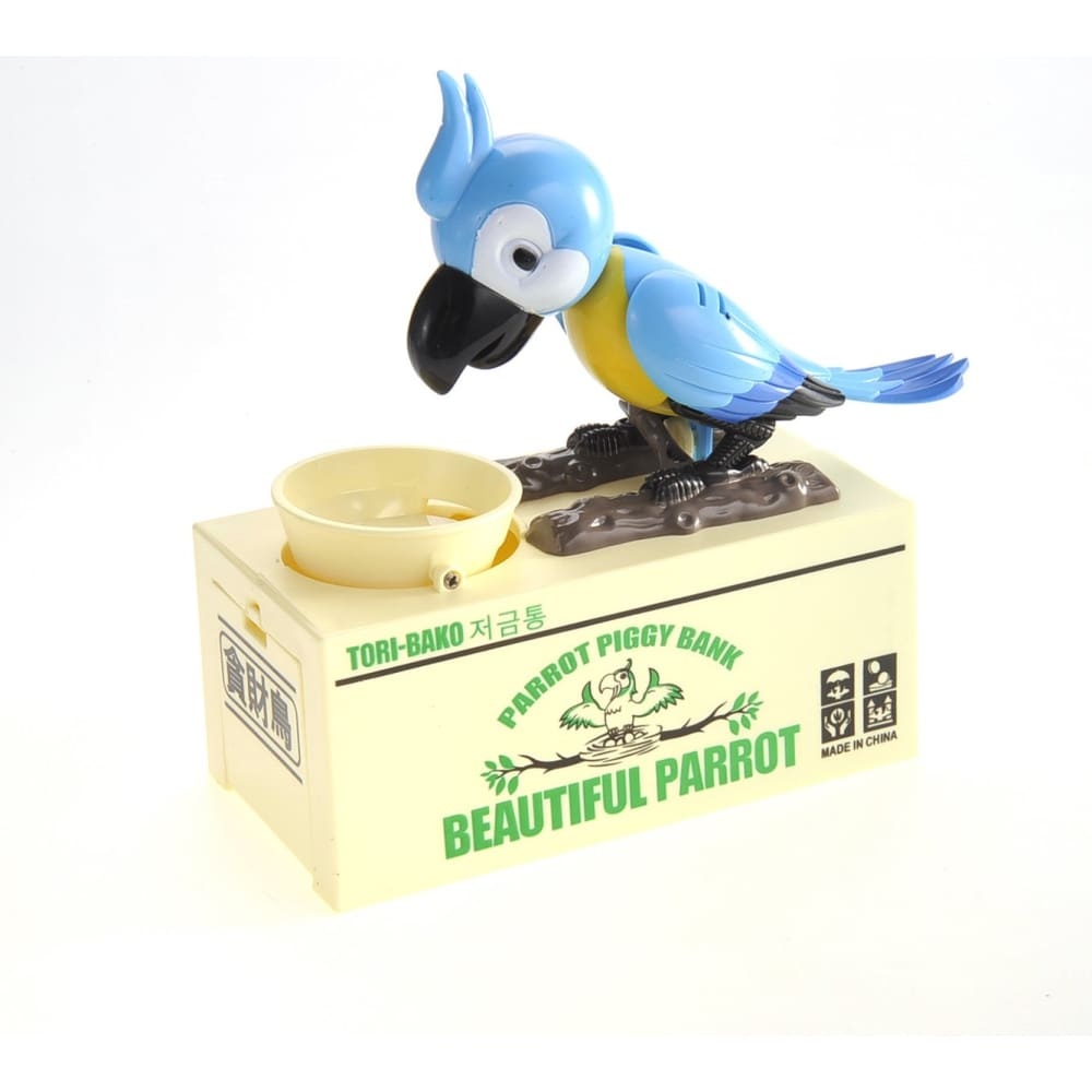 Parrot Coin Bank (Blue)