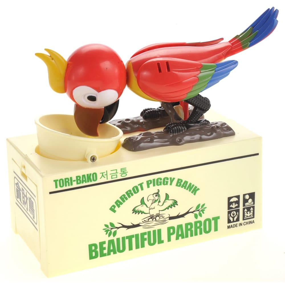Parrot Coin Bank (Red)