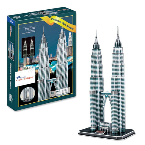Petronas Twin Towers 3D Puzzle 88 Pieces