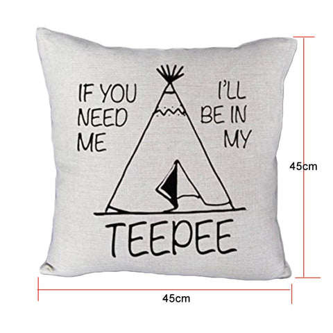 Teepee Throw Pillow Case