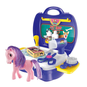 Portable Pony Carrier Play Set