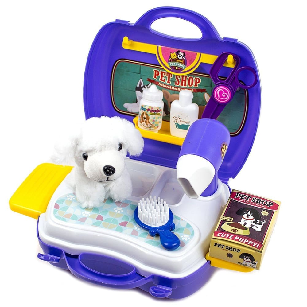 Portable Puppy Dog Carrier Play Set