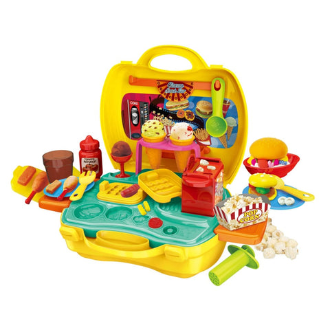 Portable Snack Bar Case Play Set 35pcs