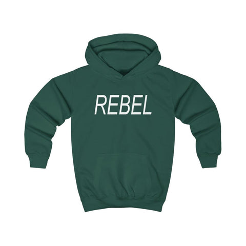 Image of Rebel Kids Hoodie - Bottle Green / XS - Kids clothes