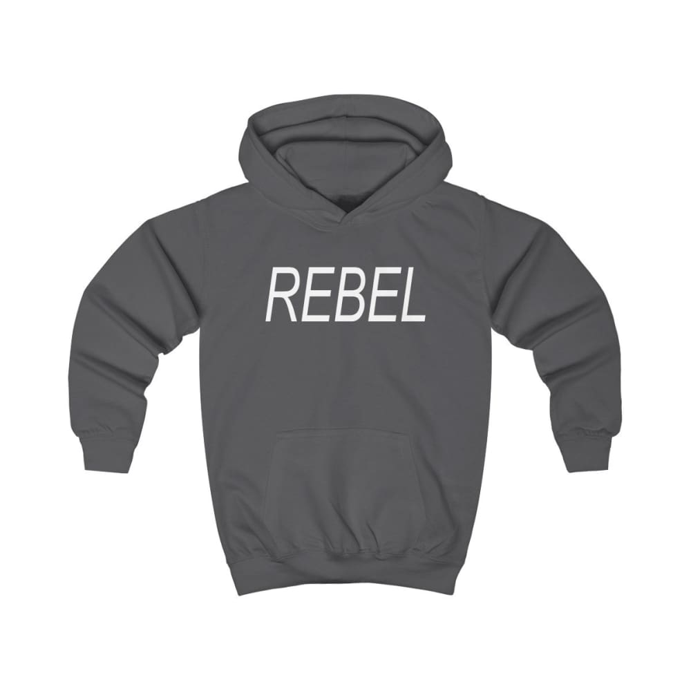 Rebel Kids Hoodie - Charcoal / XS - Kids clothes
