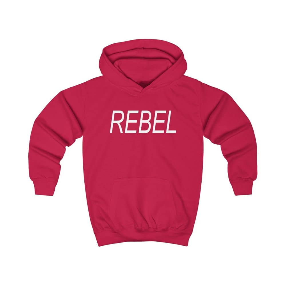 Rebel Kids Hoodie - Fire Red / XS - Kids clothes
