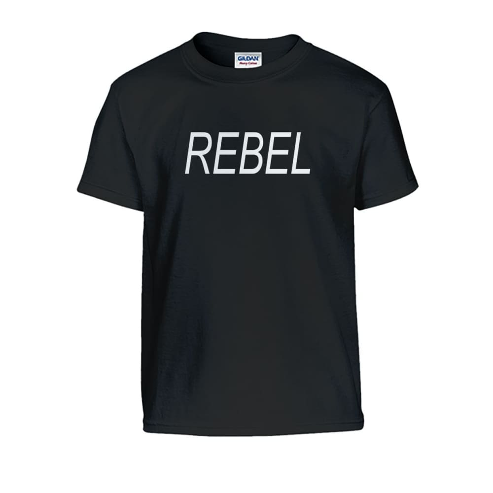 Rebel Kids Tee - Black / S - Kids