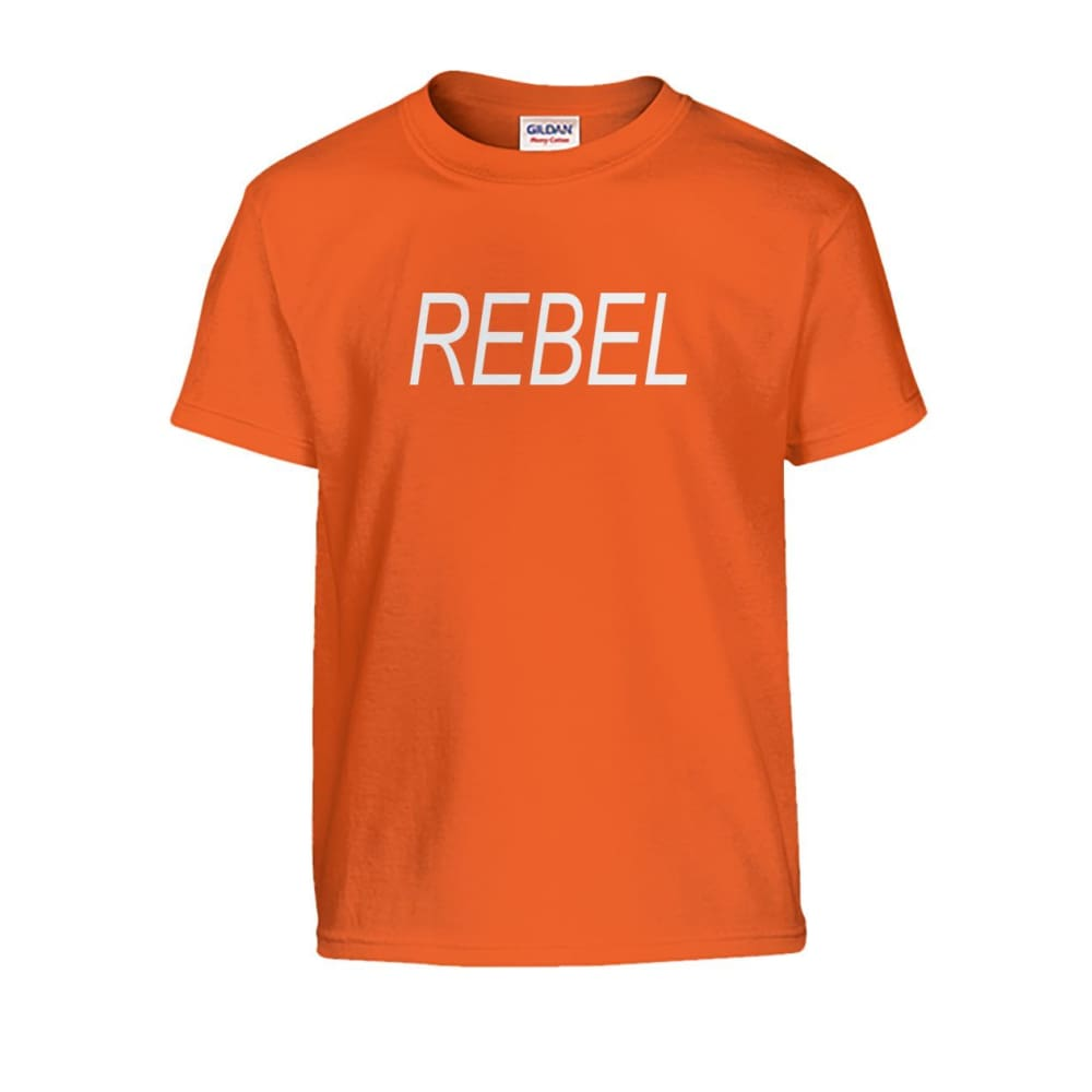Rebel Kids Tee - Orange / S - Kids