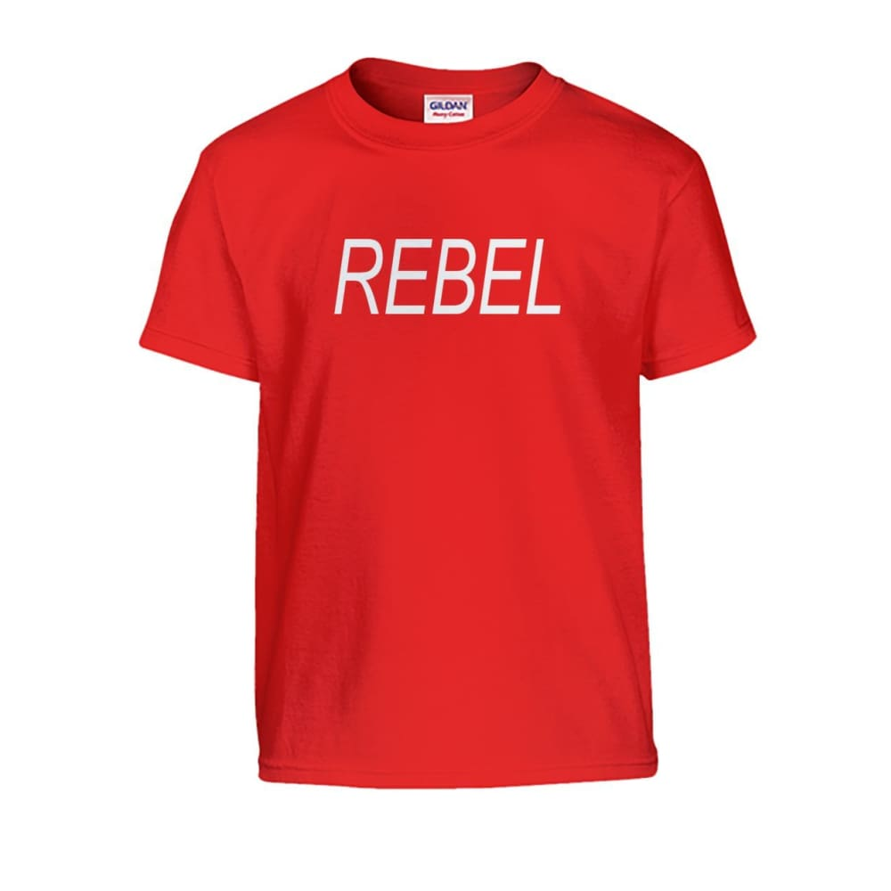 Rebel Kids Tee - Red / S - Kids