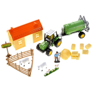 Sheep Barn Farm Playset With Tractor