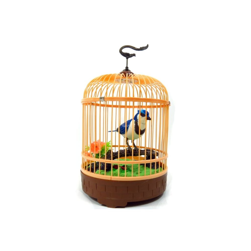 Singing & Chirping Bird In Cage - Realistic Sounds & Movements (Blue)