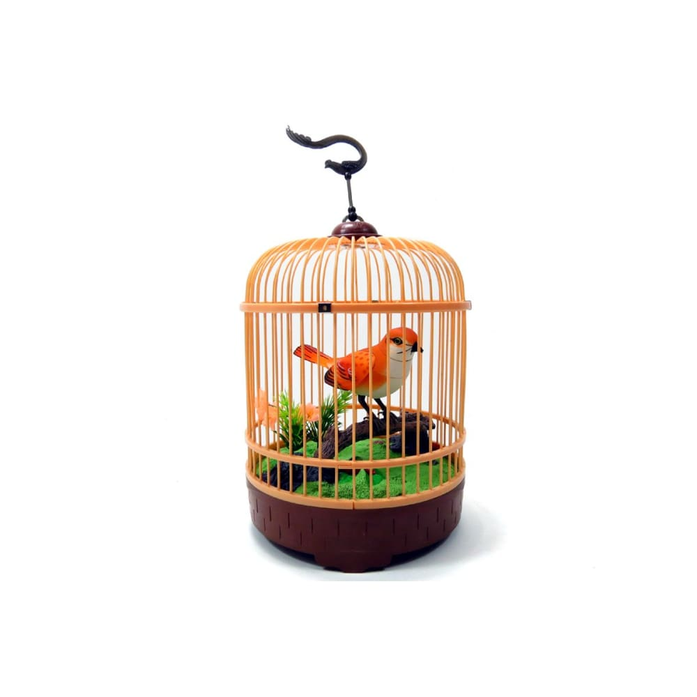 Singing & Chirping Bird In Cage - Realistic Sounds & Movements (Orange)