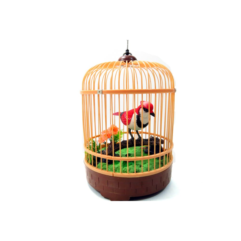 Singing & Chirping Bird In Cage - Realistic Sounds & Movements (Red)