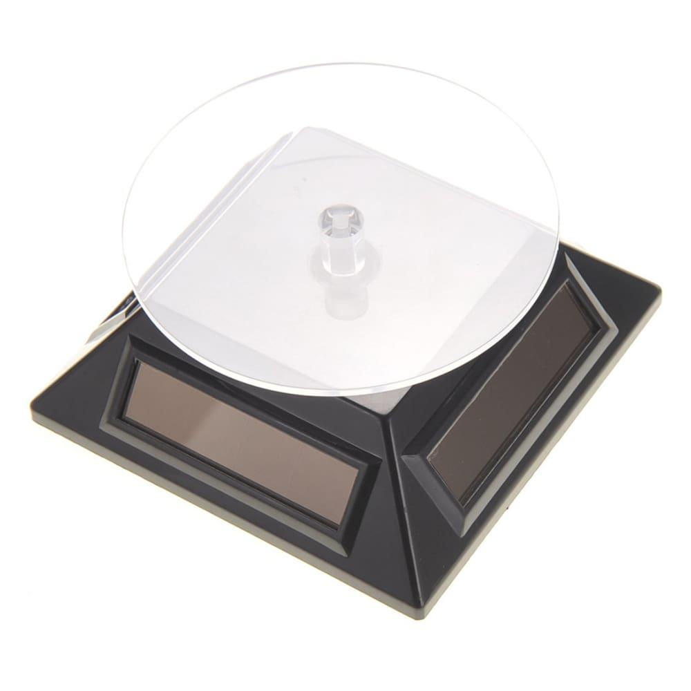 Solar Powered Turntable Display Stand (Black)
