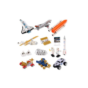 Space Shuttle Playset With Rockets Satellites Rovers & Vehicles
