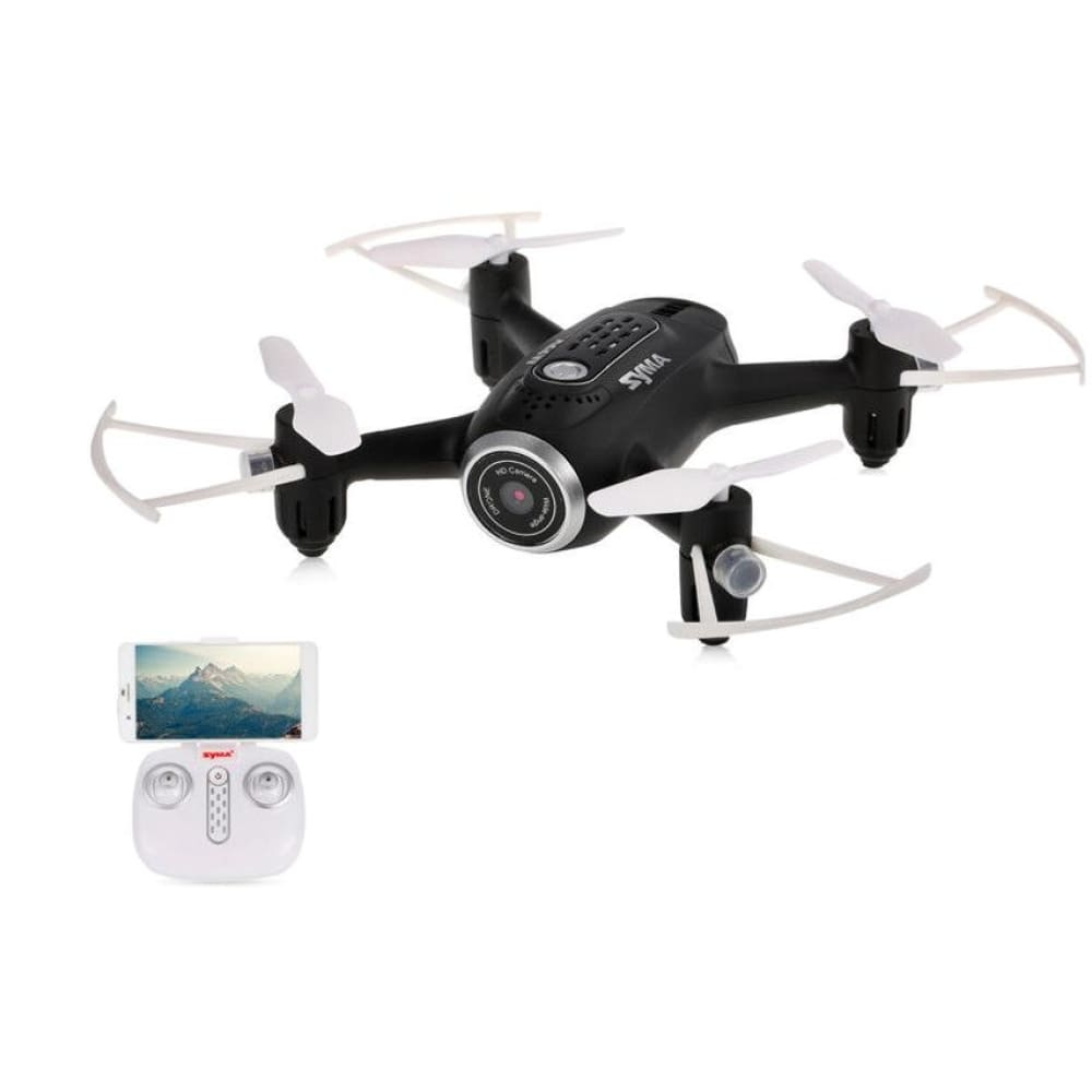 Syma Wifi FPV Pocket Drone HD Camera Headless Mode black
