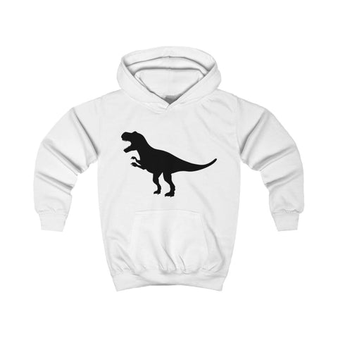 T-Rex Kids Hoodie - Arctic White / XS - Kids clothes