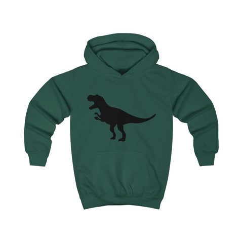 Image of T-Rex Kids Hoodie - Bottle Green / XS - Kids clothes