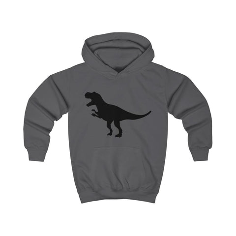 T-Rex Kids Hoodie - Charcoal / XS - Kids clothes