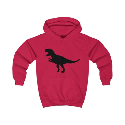 T-Rex Kids Hoodie - Fire Red / XS - Kids clothes
