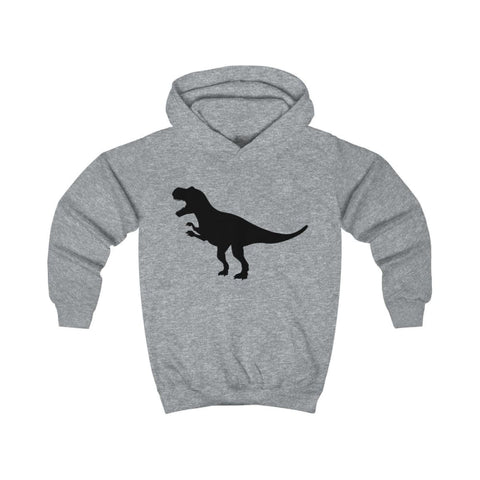 Image of T-Rex Kids Hoodie - Heather Grey / XS - Kids clothes