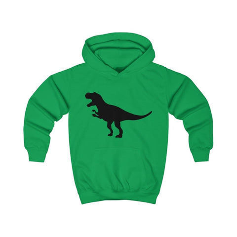 T-Rex Kids Hoodie - Kelly Green / XS - Kids clothes
