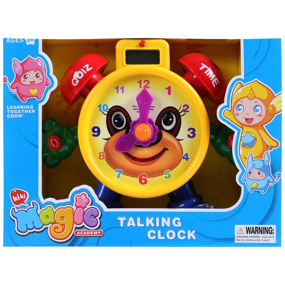 Tell The Time Time Teaching Clock Toy For Kids