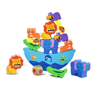 Wooden Stacking Building Animal Blocks