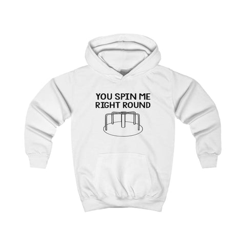 You Spin Me Right Round Kids Hoodie - Arctic White / XS - Kids clothes