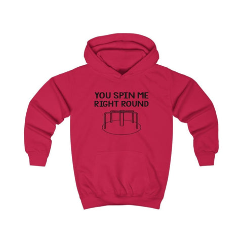 Image of You Spin Me Right Round Kids Hoodie - Fire Red / XS - Kids clothes