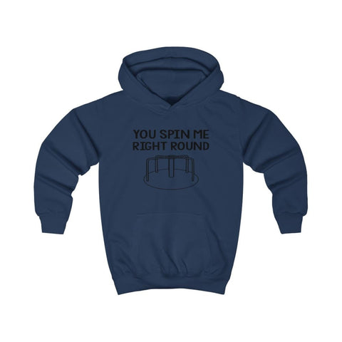 Image of You Spin Me Right Round Kids Hoodie - Oxford Navy / XS - Kids clothes