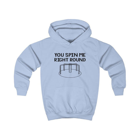 You Spin Me Right Round Kids Hoodie - Sky Blue / XS - Kids clothes