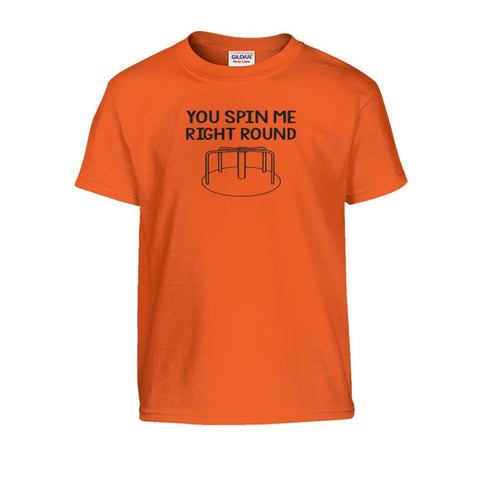 You Spin Me Right Round Kids Tee - Orange / S - Kids