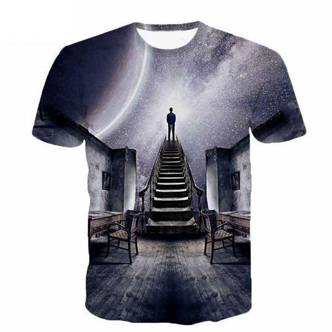 Stairway to Space 3D T-Shirt