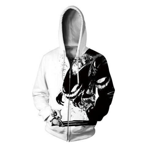 Haunter 3D Zip-Up Hoodie