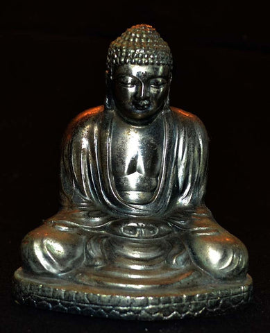 Metal Buddha With Lighter In Bottom