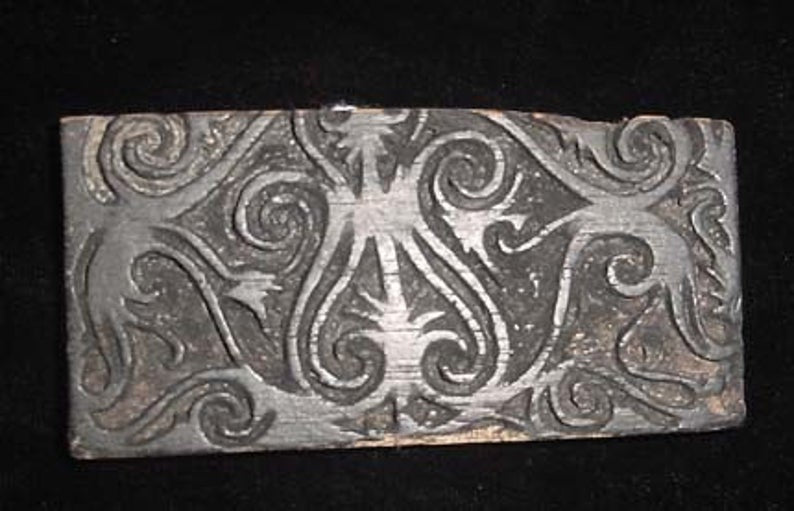 Tattoo Block, Borneo, Rare and Old