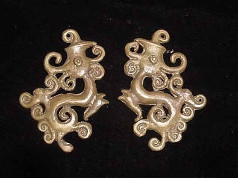 Brass Ear Weights, Borneo