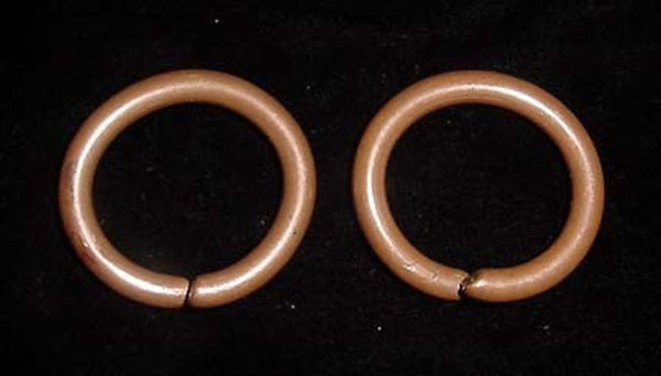 Penan Ear Hoops, Solid Copper