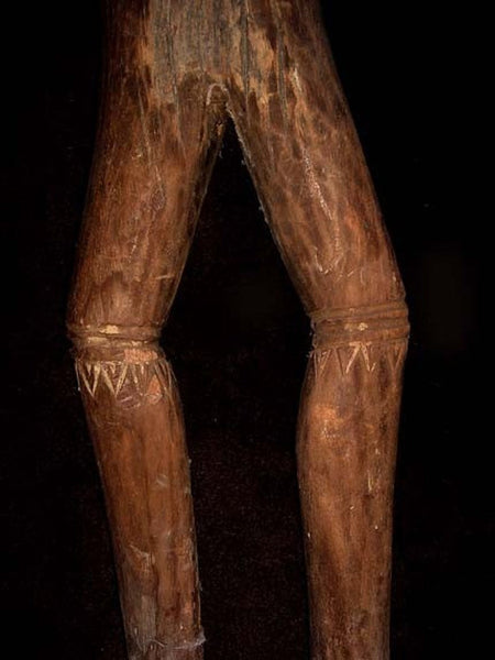 Toraja Carved Wood Statue With Tattoo Designs