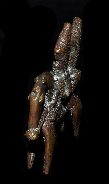 Africa - Chad, Old Bronze Equestrian Figure