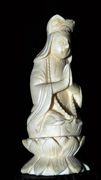 Beautiful And Wondrous Small White Carved Quan Yin