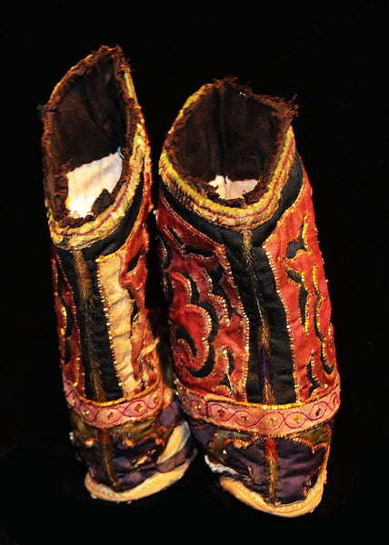 Old Pair Of Chinese Shoes For Bound Feet
