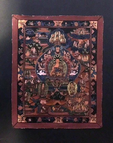 Small Thangka, Life Of The Buddha